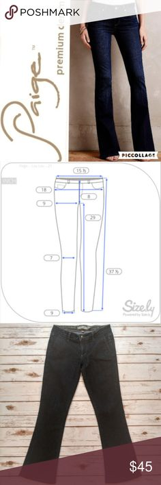 Paige Lou Lou Flare Jeans Paige Lou Lou Flare Jeans  Size 27 in excellent condition . Please see photo for flat lay measurements in inches. I ship the same or next day depending on if the post office has closed yet. Please feel free to ask any questions regarding the item. I offer bundle discounts! Thank you for checking out my closet and happy Poshing! Paige Jeans Jeans Flare & Wide Leg