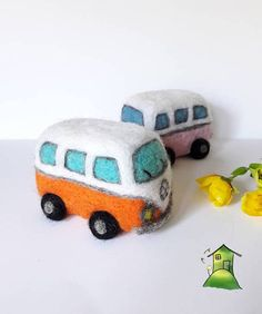 PDF pattern Needle Felt Camper Van kit beginner/
