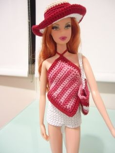 For my Barbie, I paired it with this backless piece along with a bag and hat for the beach.