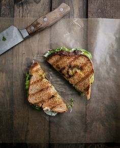 Avocado, Mozzarella, and Jalapeño Chimichurri Grilled Cheese -- NEEDS SOMETHING CRUNCHY (PEPPERS?)