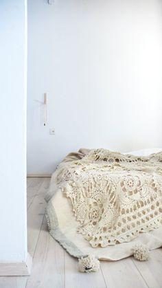 Vintage crocheted blanket Flower | lacasadecoto