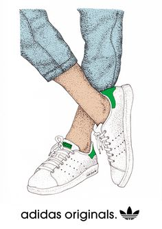 adidas stan smith drawing