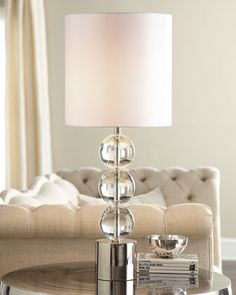 """Triple Crystal Orb"" Lamp by Regina-Andrew Design at Neiman Marcus."