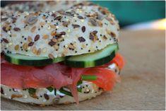 Bagel au saumon fumé et au Philadelphia {Battle food #11} - La cuisine d'Anna et Olivia