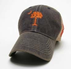 Clemson Palmetto Flag Legacy Old Favorite Adjustable Mesh Hat Legacy Hats ce4a6eccf26b