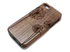 iphone 5 case wooden cases bamboo cherry and by CreativeUseofTech
