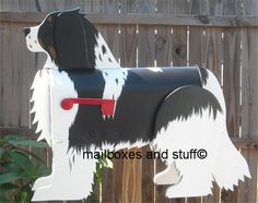 Dog Mailbox ~ Unique Dog Mailboxes shaped like specific Dog breeds. Our Dog Mailboxes can be custom painted to look like your Dog Mailbox Garden, Diy Mailbox, Mailbox Ideas, Wall Mount Mailbox, Mounted Mailbox, Unique Animals, Animals And Pets, Barrel Dog House, Custom Mailboxes