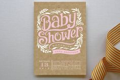 Show Poster Baby Shower Invitations by Alethea and Ruth at minted.com