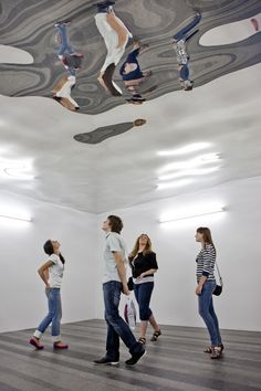 Olafur Eliasson - Using the space in a new way to give a new perspective.
