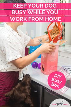 A DIY Busy Box enrichement toy is a great way to keep your bored dog busy! Put together a homemade puzzle toy to challenge and tire out your dog. Puppy Treats, Diy Dog Treats, Diy Enrichment Toys For Dogs, Dog Washing Station, Living With Dogs, Dog Cleaning, Busy Boxes, Dog Crafts, Dog Wear