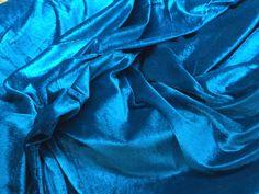 Peacock blue Turquoise Vintage cotton mix velvet fabric mid century velvet fabric dress making photography back drop velvet fabric yardage