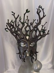 (Cheri's Blog: How to make Leather Leaf Jewelry and Mask) tree mask