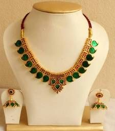 Buy Green necklace set Necklace online