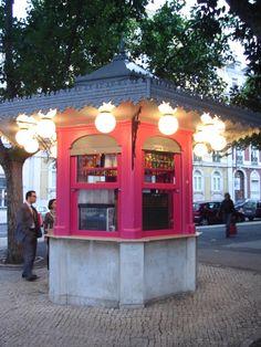 Quiosques antigos de Lisboa.
