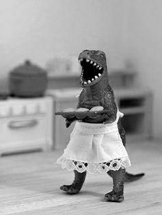 T-Rex loves to bake.