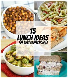 Do you tend to pack the same thing for lunch every day? Add some variety to your lunch with one of these 15 new lunch ideas! Soooo simple and delicious.