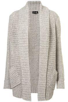 ++ knitted fluffy shawl cardi