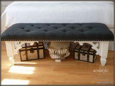 DIY Tufted Bench