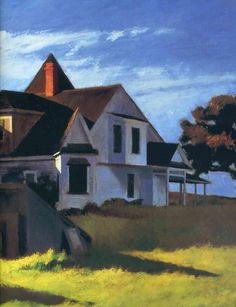 last picture show — Edward Hopper, Cape Cod Afternoon, 1936 American Realism, American Artists, Fantasy Landscape, Abstract Landscape, Edward Hopper Paintings, Picture Show, Art World, Cape Cod, Les Oeuvres