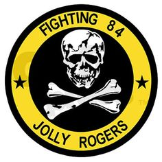 The Jolly Rogers USN Squadron, Crew gear. From the Sierra Hotel Aeronautics Vintage Aviation T Shirt and Vintage Military Clothing Collection, Pilot Supply Co. Navy Aircraft, Military Aircraft, Us Navy Logo, Tomcat F14, Navy Marine, Marine Corps, Airplane Fighter, Army Patches, Go Navy