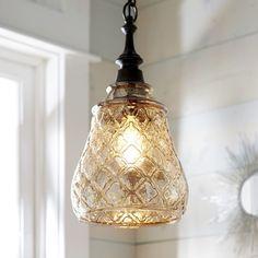 Quatrefoil Glass Pendant Light