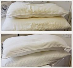 14 Clever Deep Cleaning Tips & Tricks Every Clean Freak Needs To Know Deep Cleaning Tips, Cleaning Hacks, Whiten Pillows, Yellow Pillows, Glass Cooktop, Clean Dishwasher, Natural Cleaners, Clean Freak, Diy Cleaning Products