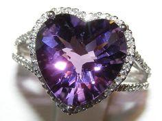 Purple love it Purple Rings, Purple Jewelry, Amethyst Jewelry, Purple Love, All Things Purple, Shades Of Purple, Purple Stuff, Heart Jewelry, Heart Ring