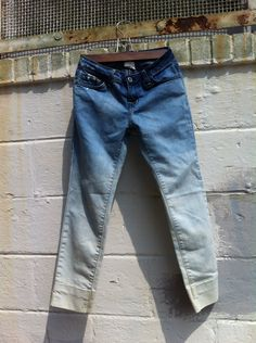 Womens BDG Bleach Washed Ombre Denim Capris Size 26. $22.00, via Etsy.