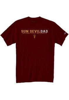 Arizona State University Sun Devils Mom T-Shirt Arizona State University, School Spirit, Devil, Dads, Sun, Men's Apparel, Mens Tops, Pride, T Shirt