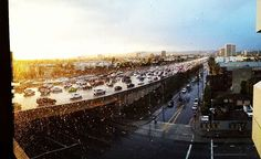 #fasho #legit #rain #405 #traffic #work