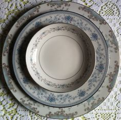 Lovely layered blue patterns - Southern Vintage Table
