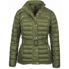 Women's Barbour International Cadwell Quilted Jacket - Khaki ($165) ❤ liked on Polyvore featuring outerwear, jackets, long quilted jacket, slim fit jackets, khaki quilted jacket, long jacket and barbour international