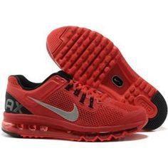 http://www.asneakers4u.com/ 2013 Nike air max mens shoes red grey