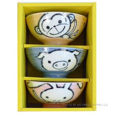 My Sweet Muffin - Animal Bowl Set from Japan.