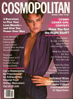Cosmopolitan magazine, OCTOBER 1983  Model: Patricia Van Ryckeghem  Photographer: Francesco Scavullo
