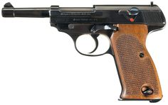 """This is an extremely rare example of a second developmental stage Walther Model AP (""""Armee-Pistole"""") prototype pistol, serial number 038, that includes its original matching factory magazine. It was one of Walther's continuing attempts at developing a suitable semi-automatic pistol for military sales for the German Army, which culminated in the accepted P.38 design."""