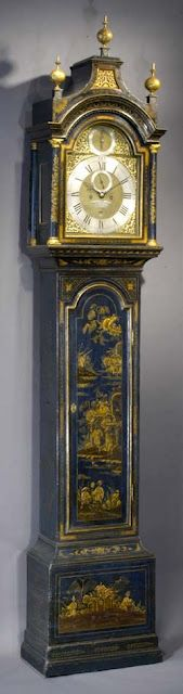 Chinoiserie Grandfather clock.