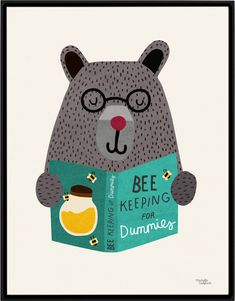 So cute! Bee Keeping poster by Michelle Carlslund