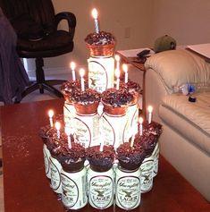 21st birthday cake cupcakes