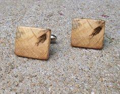 Wood cufflinks