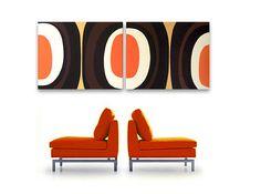 Mitte Jahrhundert moderne Kunst Malerei Eames Ära Tiki 60er