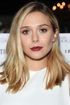The 10 best hair colors and highlights for winter 2015: Elizabeth Olsen's golden blonde hair