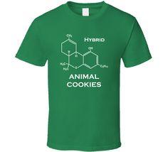 Animal Cookies Hybrid Strain Weed Marijuana T Shirt