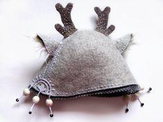 White Deer Sauna Hat by MezaZivs on Etsy