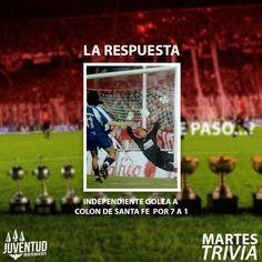 Felicitaciones a todos los que acertaron! #MartesTrivia #Independiente, #ColonDeSantaFe