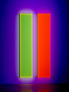 Available for sale from De Buck Gallery, Regine Schumann, Colormirror Sunshine (2015), Fluorescent acrylic, 70 7/8 × 13 3/4 × 2 3/4 in