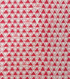 Koko Lee Cotton Fabric-Tiny Triangle Red