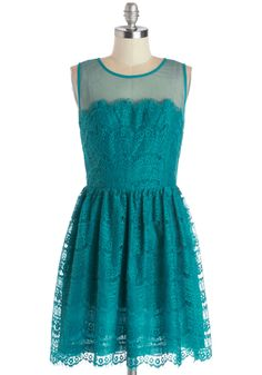 Fashionably Undulate Dress in Teal | Mod Retro Vintage Dresses