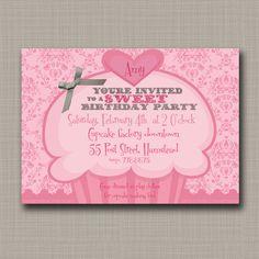 PRINTABLE Loads of Love Pink Dumptruck Hearts Birthday Invitation