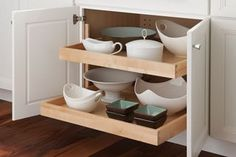 Base Cabinet with Double Slide-Out Shelves - Yorktowne Cabinets